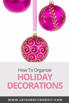 Christmas, Fall, Fourth of July, Halloween, Easter — there are so many holidays throughout the year that you decorate your home for! The problem is how to organize all of those holiday decorations when you're done with them? If you need ideas for storing wreaths and ornaments or even your Christmas tree, follow these simple steps. #organization #organize #christmas #holiday Home Organization Hacks, Organizing Your Home, Cleaning Schedule Printable, Getting Rid Of Clutter, Maximize Space, Paper Storage, Organize Your Life, Closet Bedroom, Simple Living