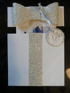 glimmery gift card holder