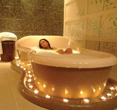Take bath could help people relax their body befor they go to bed. Warm and relax.