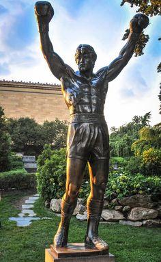Art Museum. Statue of Rocky Balboa. Philadelphia 47