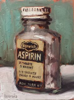 Bradford J Salamon - Aspirin Painting Still Life, Still Life Art, Mushroom Art, Drawing Projects, Bottle Painting, Pretty Art, Portrait Art, Cool Artwork, Painting Inspiration