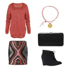 mini, sweater, and ankle boots would be so cute for fall