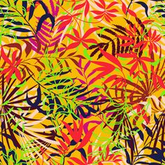 Tropical Chaos by Veneta Danailova Seamless Repeat Royalty-Free Stock Pattern Tropical Design, Floral Design, Tropical Prints, Textile Design, Print Patterns, Royalty, Wallpaper, Painting, Free