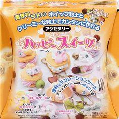 DIY glitter clay fancy cakes charm making kit Japan