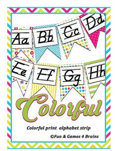 This product is a printable Alphabet banner with both D'nealian manuscript and cursive. No more hanging two banners to help your students learn cursive. Now you can hang one, colorful banner! This allows students a print reference while learning their Cursive Alphabet Printable, Alphabet Line, Dnealian Handwriting, Learning Cursive, Printable Banner, My Teacher, Student Learning, Fun Games, Classroom Decor