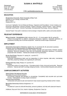 college resume format for high school students - Sample Resume For Students