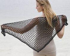 Hillesvåg ullvarefabrikk. Masse nydelig garn. Heklet sjal (Perle) - oppskrift – gratis for nedlasting