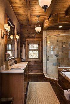 Rustic bathroom