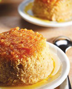 Quick Ginger Pudding | OK Foods Hand Blender, Golden Syrup, Pie Dish, Custard, Cornbread, Vanilla Cake, Brown Sugar, Oven, Pudding