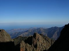 A section of the GR2O long distance hike on the island of Corsica