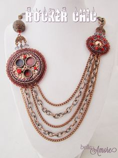 Bella Amore Legacy Jewelry: Copper Jewelry - On the Edge of Being Rocker Chic. Great use of materials here