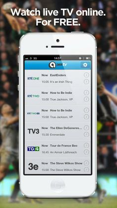 #Watch live TV for free with the Aertv app!