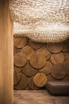 Shustov Brandy Bar by Denis Belenko Design Band | Glass Bottle Ceiling Cloud