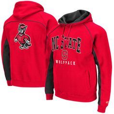 Men's Colosseum Red NC State Wolfpack Crest Pullover Hoodie