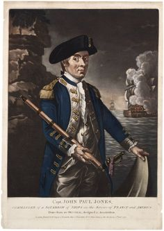 Portrait of Capt. John Paul Jones, officer of the Continental Navy of the United States during the American Revolution.  Painted in 1780.  (Gilder Lehrman Institute of American History)