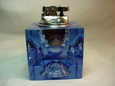 Art Deco Cigarette lighter 1930s Cobalt Blue Glass Home and Garden Home Decor Tobacciano Lighters Cigarette Lighters