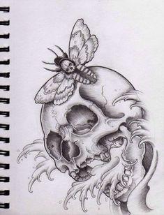 neo traditional tattoo skull - Pesquisa Google
