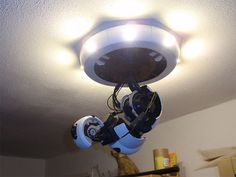 "robotlamp by walt74, via Flickr ""How To make a 3D-Printed Robot-Arm GlaDOS-Lamp"""