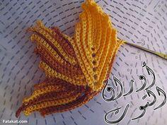 Crochê Gráfico: FOLHA DE PARREIRA (UVA) DE CROCHÊ