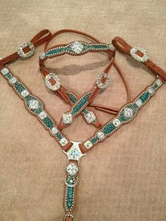 Turquoise croc set by crown leather! :)