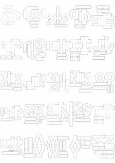 Letras Corte Manual Formatos Png, Sgv, Pdf E Sillhouette en São Paulo… 3d Paper Crafts, Paper Toys, Diy Paper, Paper Art, Diy And Crafts, 3d Alphabet, Alphabet Templates, 3d Letters, 3d Origami