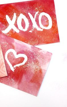 Valentines Ideas | DIY Watercolor Cards | DIY Projects