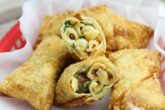 Bacon Buffalo Blue Mac & Cheese Rolls #annies #organic ... I want to make a ranch version of these!