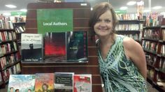 Author Ashley Fontainne at her book-signing in Arkansas.