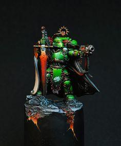 Warhammer 40k | Space Marines | Salamander Champion #warhammer #40k #40000 #wh40k #wh40000 #warhammer40k #gw #gamesworkshop #wellofeternity #miniatures #wargaming #hobby #tabletop