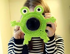 Frog Camera Buddy  Camera Lens Accessory  Lime by WyandotteWears, $12.00