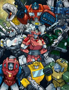 Autobots by emanz on deviantART,Jazz,Arcee,Bumblebee,Hound,Brawn,Gears,Grimlock,Ultra Magnus,and Optimus Prime.Now guess who's who.