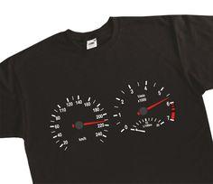 Instrument Cluster Clocks Rev Counter Speedometer Speedo E34 E36 E30 E39 T-Shirt BMW Inspired BC24