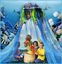 Mermaid's under the sea tent!