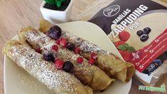 Tojásmentes palacsinta Szafi Free zabpudingból Pancake Art, Vegan Pancakes, French Toast, Gluten, Breakfast, Free, Morning Coffee, Vegan Crepes