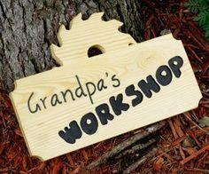 inventionhardware.com Grandpa's Workshop Wood Sign