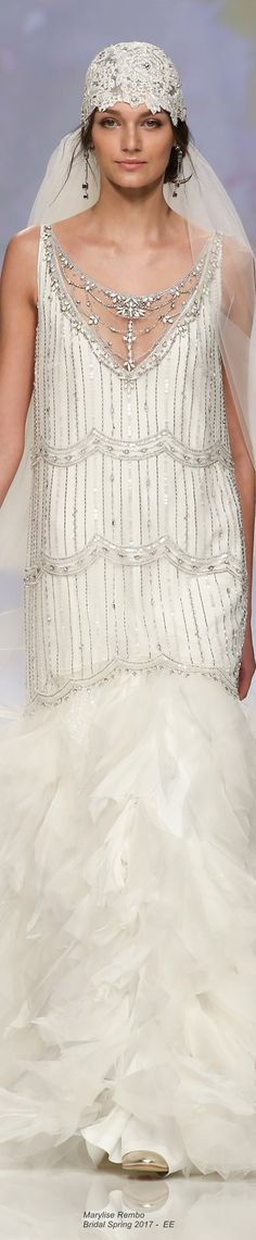 Marylise Rembo Bridal Spring 2017 not for me but very pretty / interesting!