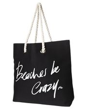 RUSTY BEACHES BE CRAZY BAG - BLACK on http://www.surfstitch.com