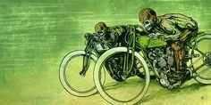 Board Track Racers by David Lozeau