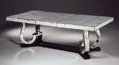 Marcel Coard . GRANDE TABLE EN MIROIR. circa 1940
