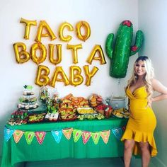 So many things to think about when planning your baby shower! What day, what you're going to wear, and which of the baby shower themes you'll pick! Mama Baby, 2 Baby, Baby Time, Baby Fever, Bebe Shower, Baby Shower Fun, Mexican Theme Baby Shower, Themed Baby Showers, Baby Boy Babyshower Themes