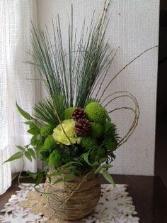 正月飾り-西田ひかる公式ブログ In the Sun Table Flower Arrangements, Christmas Arrangements, Table Flowers, My Flower, Flower Art, Japanese New Year, Green Wreath, New Years Decorations, New Year Celebration