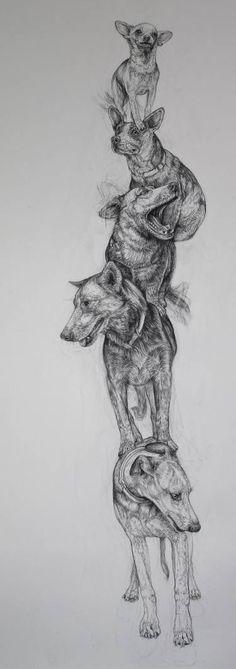 """Saatchi Art Artist Donalee Peden Wesley; Drawing, """"Fragile Series, Puppy Mills"""" #art"""