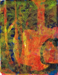 """""""Conundrum"""" acrylic monotype by Sharon Giles Prints, Painting, Art, Art Background, Painting Art, Kunst, Paintings, Performing Arts, Painted Canvas"""