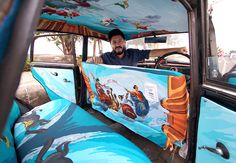Taxi Fabric is a project that's creatively transforming Mumbai's many taxis into mobile works of #art. #Mumbai