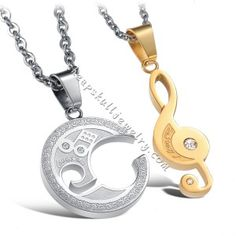 Fashion Jewelry Stainless Steel Music Note Engraved Couple Best Friend Puzzle on sale $38.38