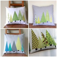 Tree Pillow Cover SEWING PATTERN Instant Download by allisajacobs