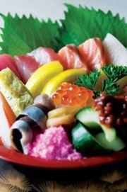 Shin Minori's Chirashi Zushi - Sliced Raw Fish on Vinegar Rice