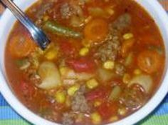 Hamburger Soup- Todays meal is in honor of my beautiful grandma Ida Inez T. She made my childhood so much better!~