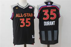 01f1f0873 Warriors 35 Kevin Durant Charcoal 2017 NBA All-Star Game Swingman Jersey