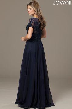 Jovani 98273 Evening Dress Short Sleeves